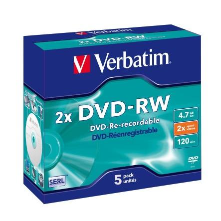 Verbatim dvd rw 4 7gb 4x with branded surface 30pk spindle 4 7gb - Verbatim 95044 Dvd Rw