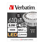 Verbatim 52358 Downlight MR16 8WATT NW DIMMABLE