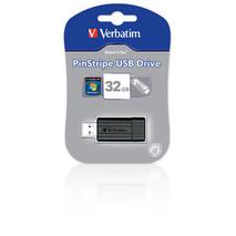 Verbatim 49064 Pinstripe USB Drive 32GB