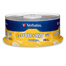 Verbatim 94834 DVD+RW 30Pk 4x