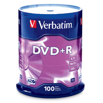 Verbatim 95098 DVD+R 4.7GB 100Pk