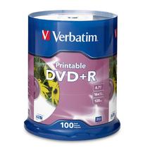 95145 DVD 4.7GB 100Pk White InkJet 16x