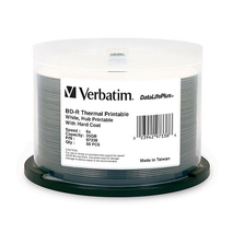 97338 Verbatim BluRay 25GB Thermal Print 50pk