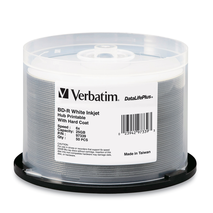 Verbatim 97339 Blu Ray 25GB 50Pk Inkjet 6x