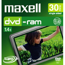 Maxell - 8cm Camcorder DVD-RAM 60min 1 Pack Jewel Case