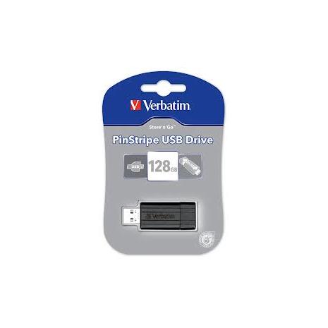 49071 Verbatim Pinstripe USB 2.0 Drive 128GB