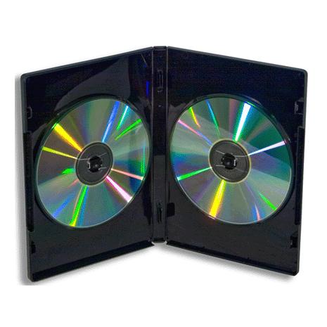 DVDX2BLK DVD Case Double 14mm Black