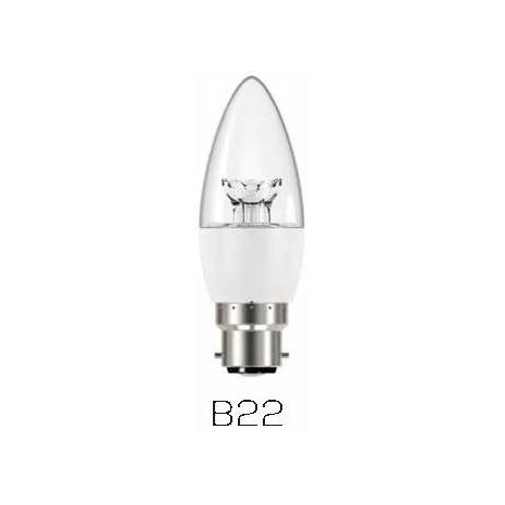 Verbatim 65122 Candle Clear B22 6W 2700K WW  470LM