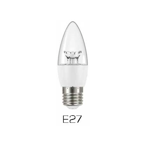 Verbatim 65120 Candle Clear E27 6W 2700K WW  470LM