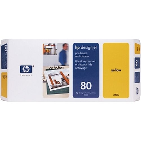HP No 80 Printhead & Cleaner Cartridge Yellow