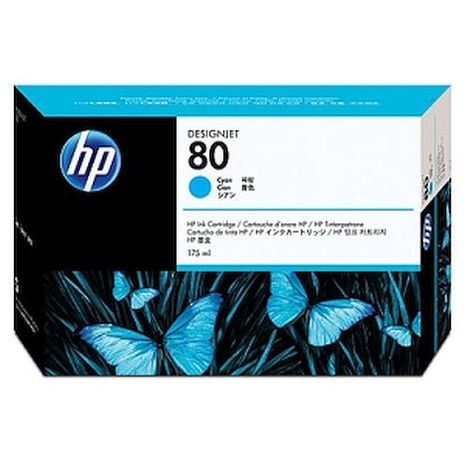 HP No 80 Cyan Ink Cartridge 350ml