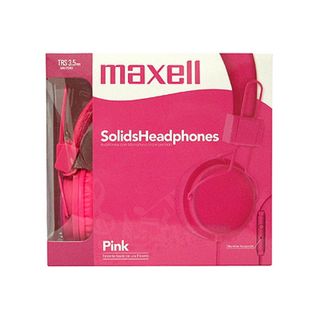 Maxell Spectrum Headphones TRS 3.5mm Stereo mic # SMS-10 Pink