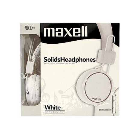 Maxell Spectrum Headphones TRS 3.5mm Stereo with in-line mic # SMS-10