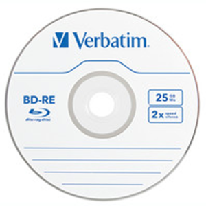 Verbatim 43615 Rewritable BD-RE 25GB Branded 5PK