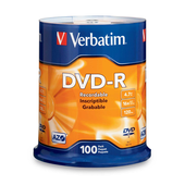 Verbatim 95102 DVD-R 4.7GB 100Pk
