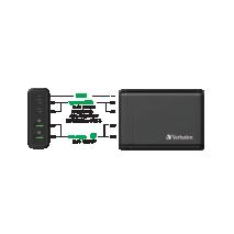 Verbatim 66402 2 Port 100W PD & QC 3.0 USB Charger