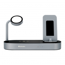 Verbatim 66401-2 4-in-1 Apple Watch & Smartphone Wireless Charging Dock