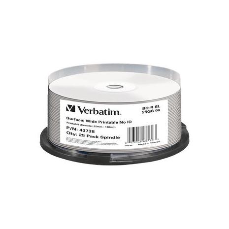 Verbatim 43738 BD-R 25GB Inkjet 25Pk