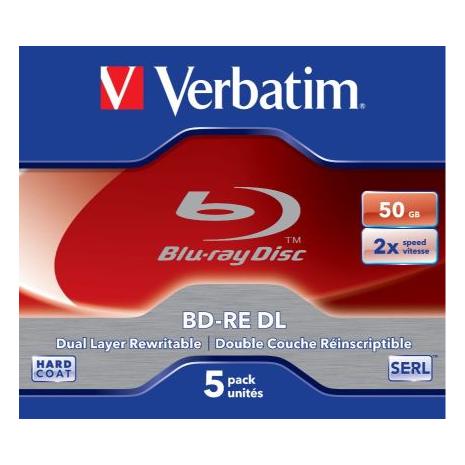 43760 Verbatim BD-RE DL 50GB 5PK 2X