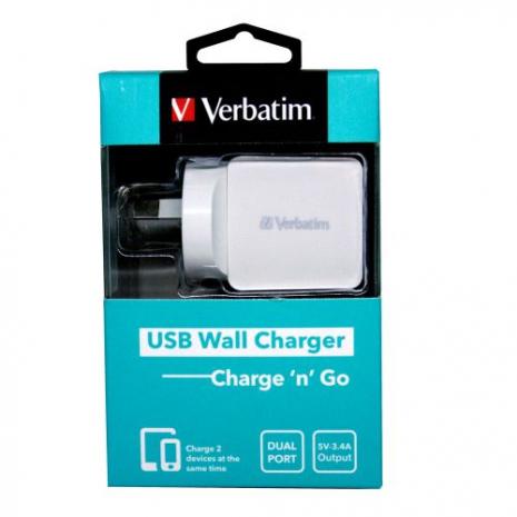 Verbatim 64956 USB Wall Charger Dual Port