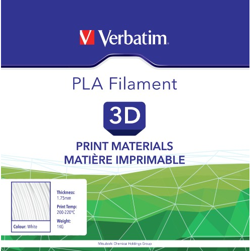 White 3d Printers & Supplies Verbatim 55268 Pla Filament 1.75mm 1kg 3d Printer Consumables
