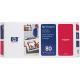 HP No 80 Printhead & Cleaner Cartridge Magenta